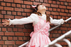 Stressed japanese lolita Stock Photo