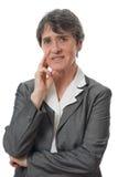 Stressed lady Stock Photo