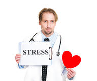 Stressed leads to heart disease Stock Images