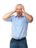 Stressed man Royalty Free Stock Photo