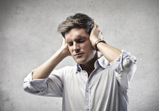 Stressed Man Royalty Free Stock Photos