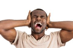 Stressed man Royalty Free Stock Images