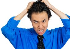Stressed man Stock Images