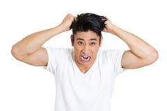 Stressed man Royalty Free Stock Image