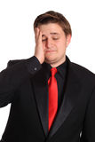 Stressed man with headache Royalty Free Stock Photo