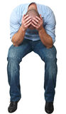 Stressed man isolated on white Royalty Free Stock Image