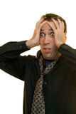 Stressed Manager Royalty Free Stock Photos