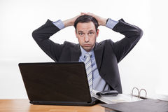 Stressed manager too much work Royalty Free Stock Photos