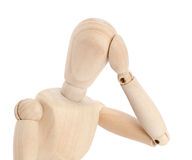 Stressed mannequin Royalty Free Stock Image