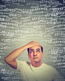 Stressed middle aged man Stock Photography
