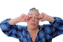 Stressed middle aged woman Royalty Free Stock Photography