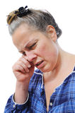Stressed middle aged woman Stock Photography