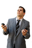 Stressed by mobiles Stock Image