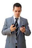Stressed by mobiles Stock Photography