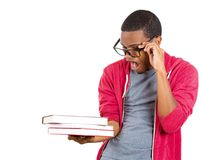 Stressed nerdy guy Stock Photo