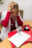 Stressed nurse Stock Photography