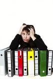 Stressed office worker Stock Image