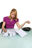 Stressed office worker Stock Photo