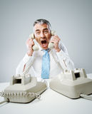 Stressed operator Stock Images