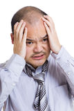 Stressed out businessman Royalty Free Stock Image