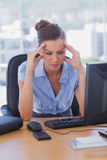 Stressed out businesswoman Stock Images