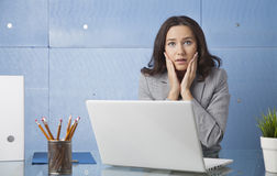 Stressed out businesswoman Stock Photo