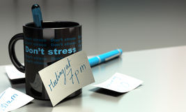 Stressed out concept - workplace stress Royalty Free Stock Images