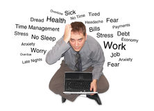 Stressed Out Laptop Man Royalty Free Stock Photos