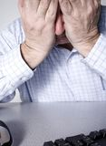 Stressed-out male Stock Images