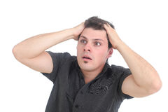 Stressed out man Royalty Free Stock Photo