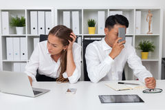 Stressed out office workers Royalty Free Stock Photography