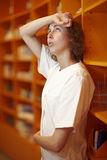 Stressed out pharmacist Royalty Free Stock Images