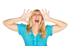 Stressed Out Screaming Woman Royalty Free Stock Photography
