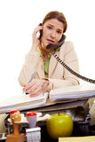 Stressed out secretary Royalty Free Stock Photo