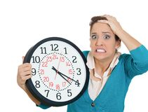 Stressed out of time Stock Image