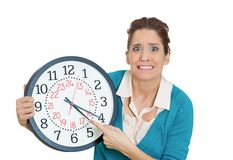 Stressed out of time Royalty Free Stock Photos