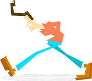 Stressed out walking guy. Stressed-out man, walking circles Royalty Free Stock Images