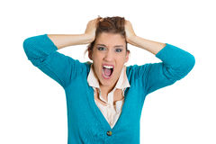 Stressed out woman Royalty Free Stock Image