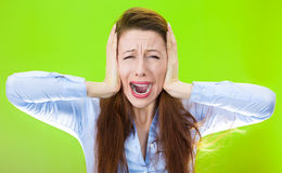 Stressed out woman Stock Image