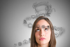 Stressed Out Woman Royalty Free Stock Photography