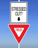Stressed Out? Yield! Royalty Free Stock Photography