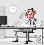 Stressed overworked businessman Stock Photography