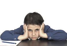 Stressed pupil Royalty Free Stock Images