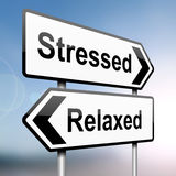 Stressed or relaxed. Stock Image