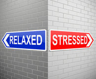 Stressed or relaxed concept. Stock Images