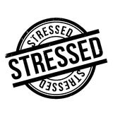 Stressed rubber stamp Royalty Free Stock Photography