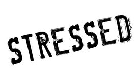 Stressed rubber stamp Royalty Free Stock Photos