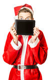 Stressed santa behind schedule Royalty Free Stock Images