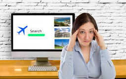 Stressed search fly Stock Images
