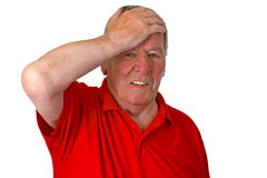 Stressed Senior Stock Images